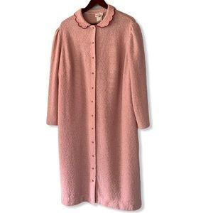 Vintage 70s Leslie Pomer Open Weave Robe
